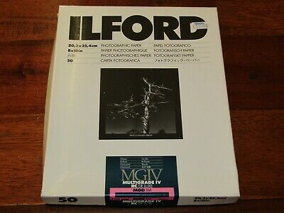 ILFORD 8 x 10in Multigrade IV RC Deluxe MGD.1M B&W RC Glossy Paper 50 Sheets