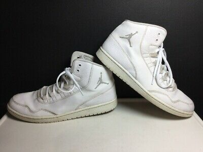 wholesale dealer 40fdf 3a81d Nike Air Jordan White Leather High Tops 820240-100 Basketball Shoes Mens  Size 11