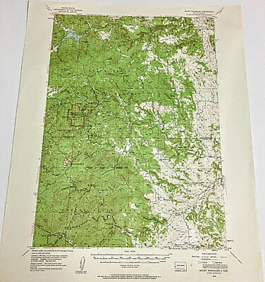 Mount Rushmore South Dakota 15 Minute Series Topographical Map Edition 1954