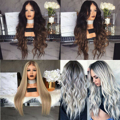 Curly Wig Glueless Full Lace Wigs Women Ladies Indian Remy Hair Lace Front AU