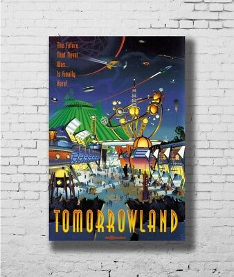 COLLECTOR'S POSTER TOMORROWLAND New 12x18 24x36 Silk Art Poster F1