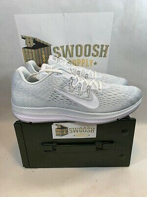 7df8ef2e524a1 Nike Zoom Winflo 5 White Wolf Grey Running Shoes AA7406-100 Size Men s 14