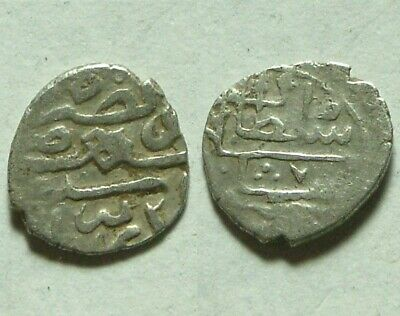 Rare Ottoman Empire Turkey Silver akce Coin AKCHE you identify not cleaned 1400