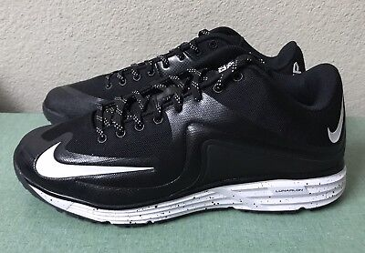 new product 20db1 e5aa1 Nike Lunar MVP Pregame 2 Turf Black White Baseball Trainers Mens Sz 13 NEW!