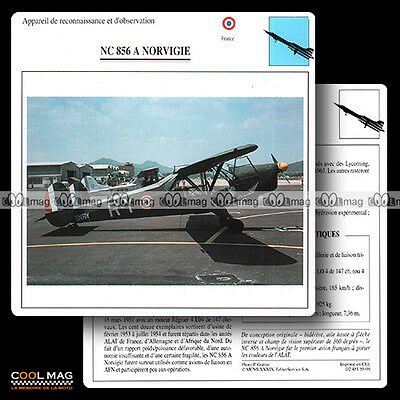 #055.09 NC 856 A NORVIGIE - Fiche Avion Airplane Card
