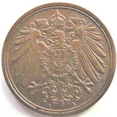 1915A GERMANY EMPIRE WILHELM II,1 PFENNIG, grading About UNCIRCULATED.