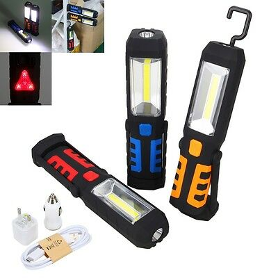 LED COB Magnetic Work Light Inspection Lamp Flexible Handheld Torch Rechargeable