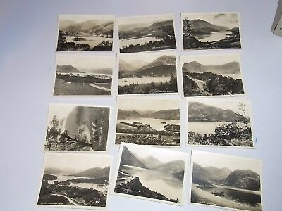 """Vintage Early 1900's"""" Twelve Lake Series"""" Real Photos (12 ) in  Original Pouch"""