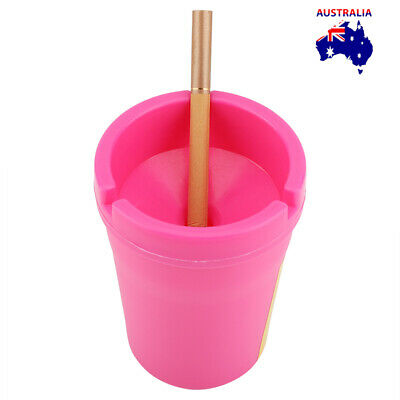 ASHTRAY Butt Bucket Cigarette Tobacco Color Holder Ash Container Storage AU