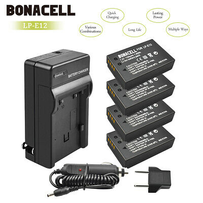 LP-E12 Battery Charger for Canon Rebel SL1 EOS-M EOS M2 M10 Mirrorless Camera UB