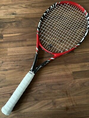 """Mantis 285 Ps Tennis Racket 27"""" - Grip 2 - Red Black G With Cover"""