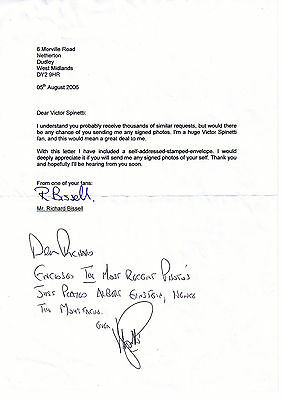 Letter Sent To Fan By Actor Victor Spinetti Beatles Friend And Co Star
