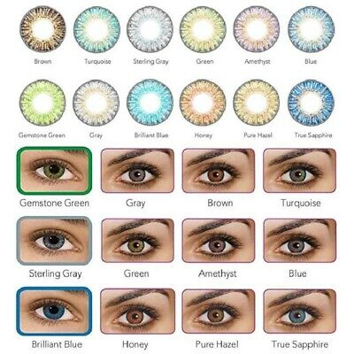 Vibrant Color Contacts Eye Lenses Colorblends Cosmetic Makeup Lens LAST 1 YEAR