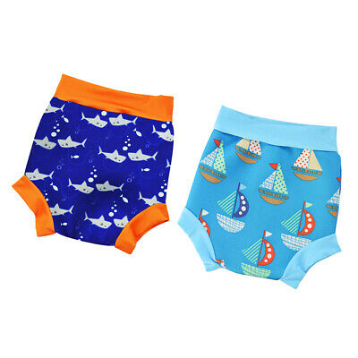 2pcs Reusable Swim Nappy Shorts Diaper for Baby Toddler Unisex Swimming