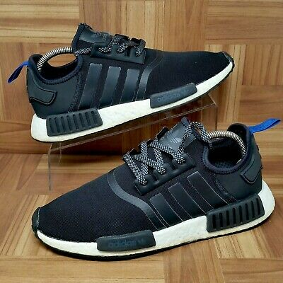 new style 2c530 b824e ADIDAS ORIGINALS NMD R1 Boost (Men's Size 10) Athletic Sneakers Black/Blue  Tab