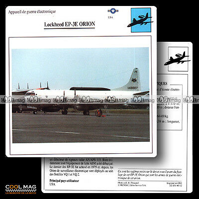 #080.12 LOCKHEED EP 3E ORION - Fiche Avion Airplane Card