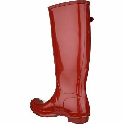 Hunter Womens Womens Original Tall Gloss Rubber Closed, Military Red, Size 9.0