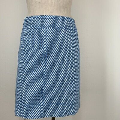 195fb74d28 Talbots woman skirt size 16 blue Pattern cotton stretch lined Pockets
