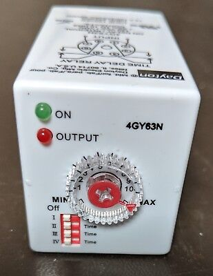NEW Dayton Time Delay Relay 12A 8 Pin 4GY63N