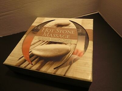 Hot Stone Massage 14 Piece Therapy Kit With Guide Book New In Box