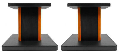 2 Rockville RHT8C Computer/Bookshelf Desktop Speaker/Studio Monitor Stands-Wood