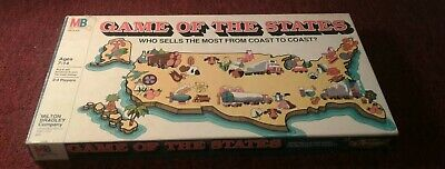 Vintage ~ Game Of The States 1979 Milton Bradley #4920 Board Game complete