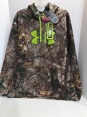Official Website Duck Dynasty Crew Mens Under Armour Pullover Jacket Cold Gear Camo Mens Medium Activewear