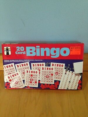 BINGO 20 CARD Vintage Game 1987 Rainbow Works SEALED In Box FREE SHIPPING New *