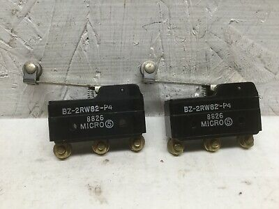 Micro Switch BZ-2RW82-P4 Roller Lever Limit Switch 15A 125, 250 or 480 VAC (2PK)