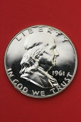 1961 Proof Ben Franklin Half Dollar Exact Coin Shown Flat Rate Shipping OCE 383