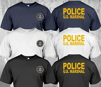 NEW Police US Marshal United States  Military Special Force Department - T-Shirt