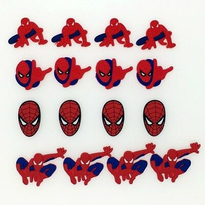 16pcs/set Kids Boys Gift Spider Man Shoe Charms Fit Jibbitz Croc Wristbands