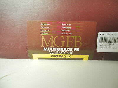 "Lot of 25 8"" x 10"" sheets of Ilford MGFB Semi-matt Print Paper, MGW.24K"