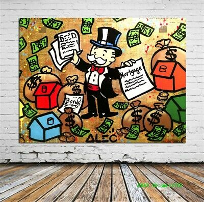 Alec Monopoly Canvas HD Prints Painting Wall Art Home Decor 12x16 inch #58