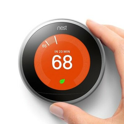 Nest T3007ES 3rd Gen Programmable Thermostat - Stainless Steel NEW FAST SHIPPING