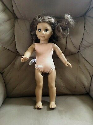 "AMERICAN GIRL DOLL 18"" Brown Hair Hazel Eyes ~ Damaged ~ Repair or Parts"