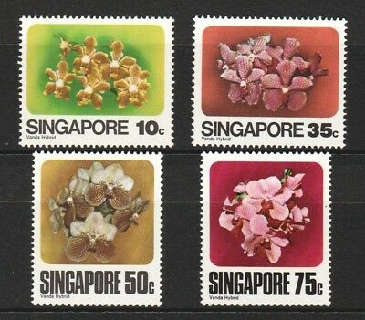 Singapore 1979 Vanda Orchids Comp. Set Of 4 Stamps Sc#319-322 In Mint Mnh Unused