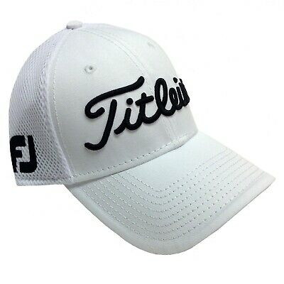 Titleist Golf Tour Sports Mesh Performance Fitted Hat/Cap Size: M/L COLOR: White