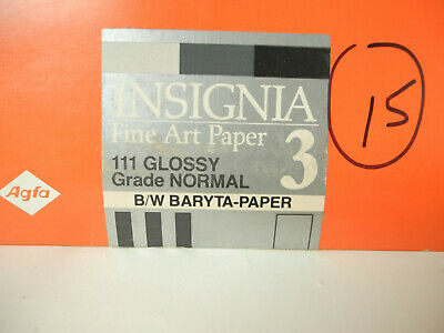 "Lot of 15 8"" x 10"" sheets of Agfa Insignia Fine Art Print Paper"