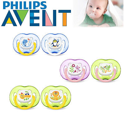 Baby Philips Avent Soother Dummy Nipple Orthodontic Pacifier Free Flow 18m+