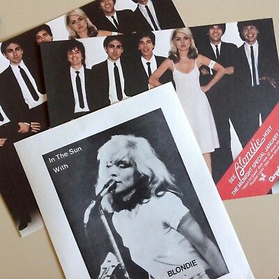 Vintage 1978 3 RARE Blondie Debby Harry Mini Posters Parallel Lines & Orig Litho