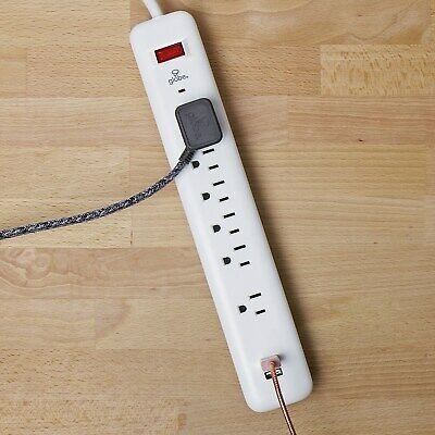 6-Outlet Surge Protector Power Strip, 2 USB Ports,Grounded, 4ft Cord