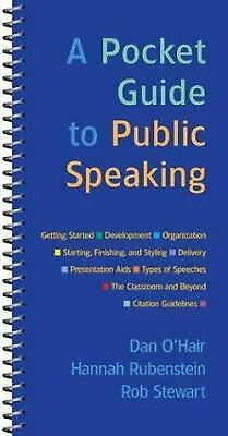 Pocket Guide to Public Speaking by O'Hair, Dan -ExLibrary