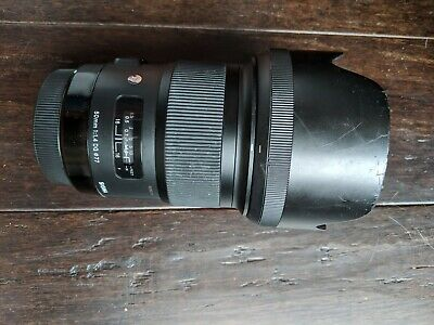 Sigma 50mm F/1.4 ART DG AF/MF Lens for Canon With Hood & Case MADE IN JAPAN