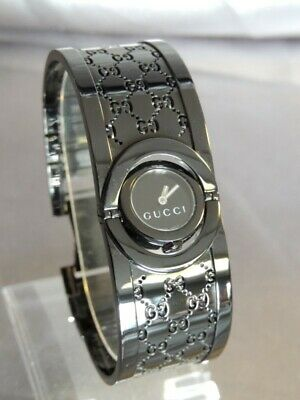f1a1f443292 Gucci Twirl Watch Black Dial Stainless Steel 112 YA112531 Womens Wat  (NJL015742)