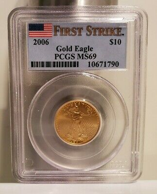 2006 American Gold Eagle (1/4 oz) $10 - PCGS MS69 - First Strike