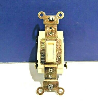 10-PK Leviton IVORY 3-Way Toggle Switch Quiet 20A 120/277V Commercial 54523 NEW