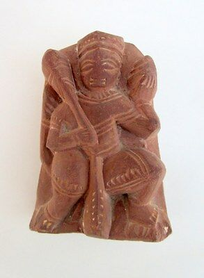 1900s Antique Old Stone Hindu Monkey God Hanuman Temple Worship Sculpture Statue