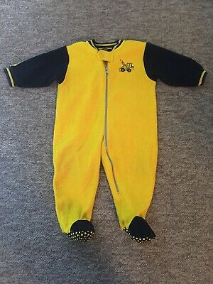 Boys /Girls J.C.B Pyjamas/By Bomford Excavators Ltd/All In One/Sleepsuit/PJ's