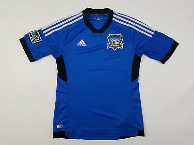eb7559dde7b Adidas San Jose Earthquakes Soccer Jersey Men's Small MLS Soccer 2010 Away  Kit